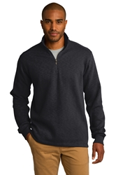 Port Authority® Slub Fleece 1/4-Zip Pullover