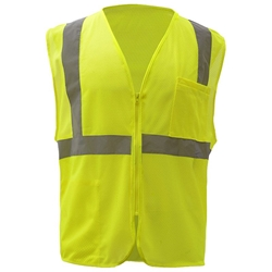 GSS Safety 1001 Class 2 HiVis Mesh Zippered Safety Vest